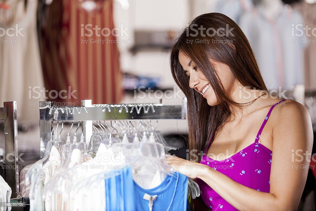 Finding something nice to wear royalty-free stock photo