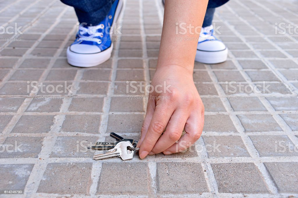 finding the keys stock photo