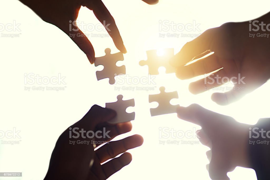 Finding the right fit stock photo