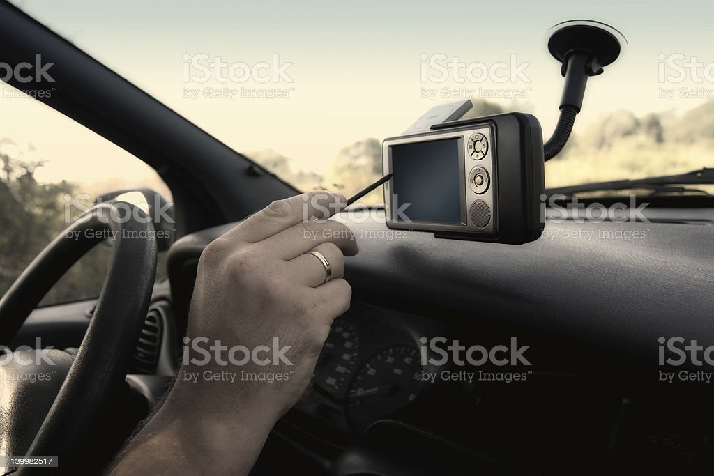 GPS - Finding The Right Way royalty-free stock photo