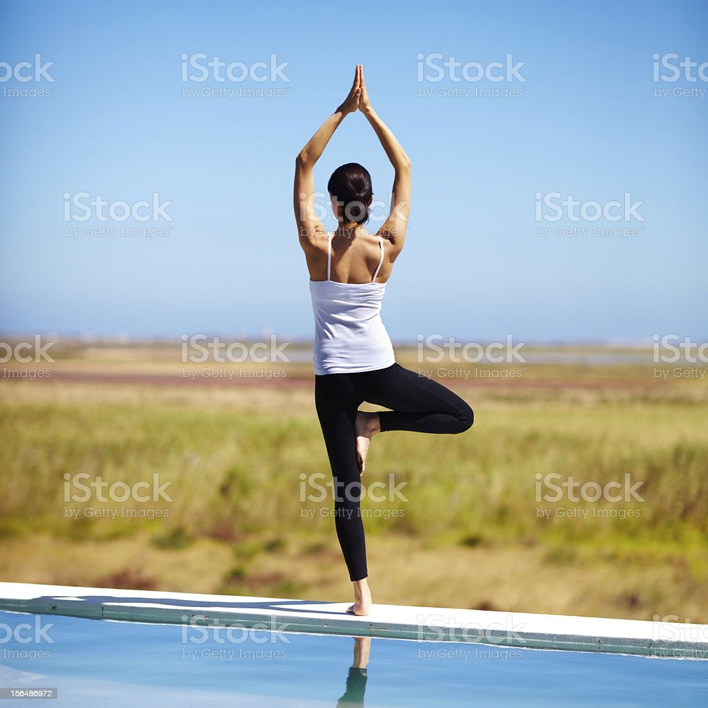 Finding tranquility royalty-free stock photo