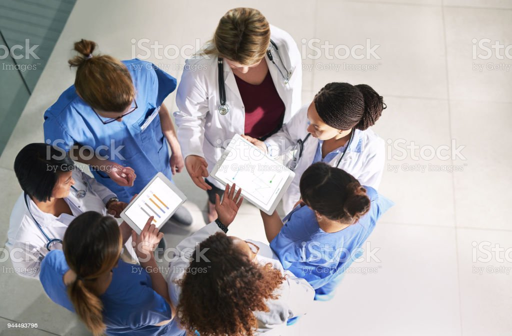 Finding ways to better the standards of healthcare stock photo