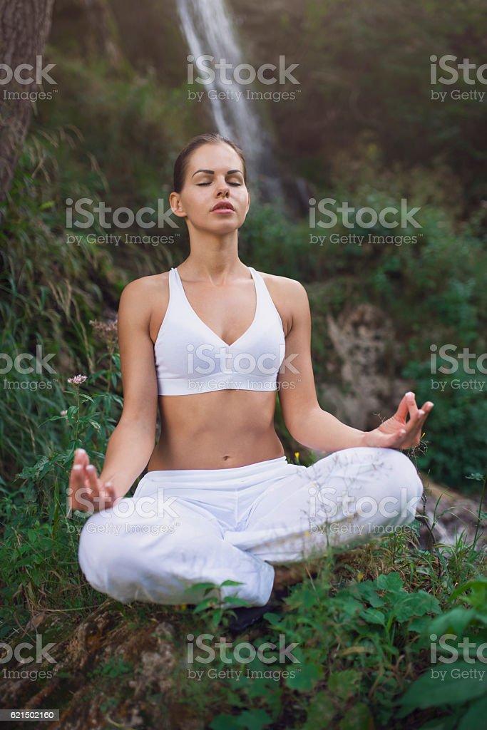 Finding Zen in beautiful nature photo libre de droits