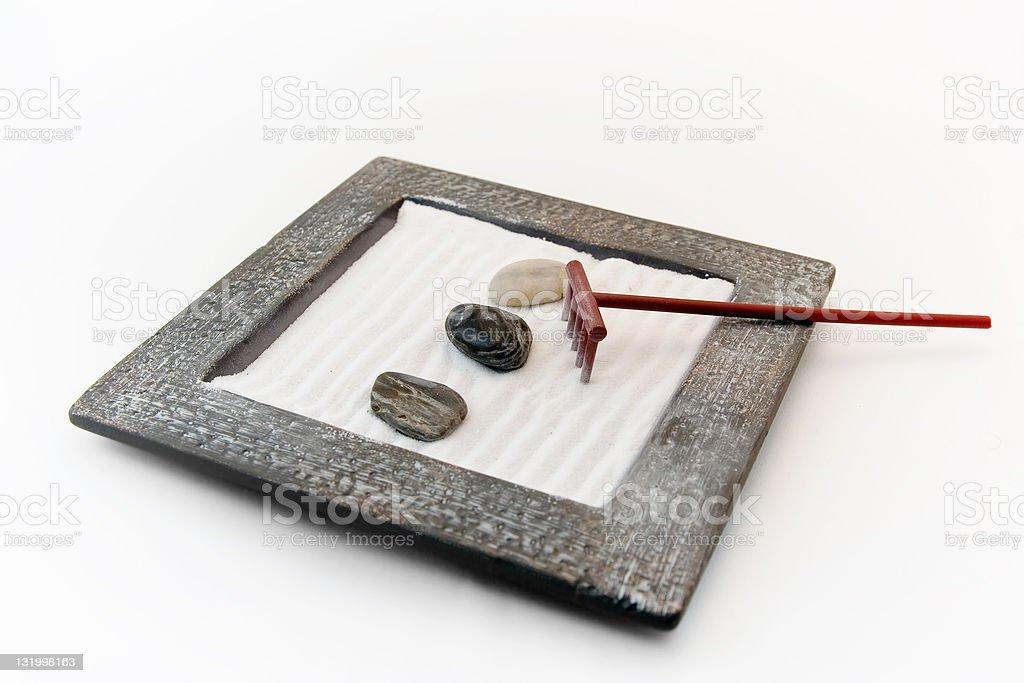 Finding zen stock photo