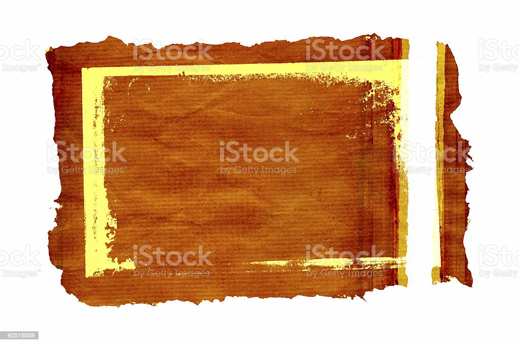 findings frame with rich texture royalty-free stock photo