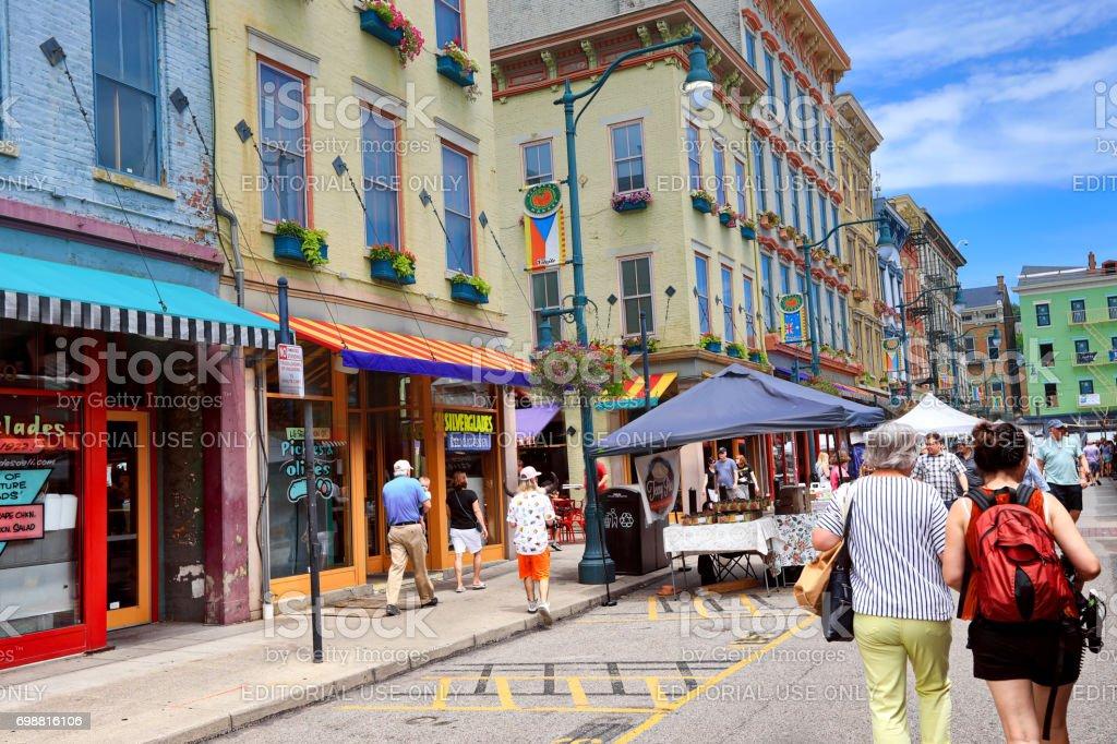 Findlay Market is located in Cincinnati Ohio. stock photo
