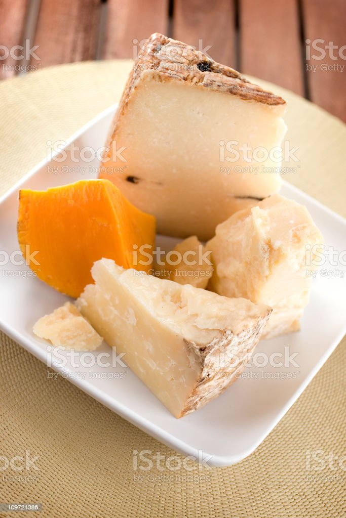 Fine Aged Cheeses royalty-free stock photo