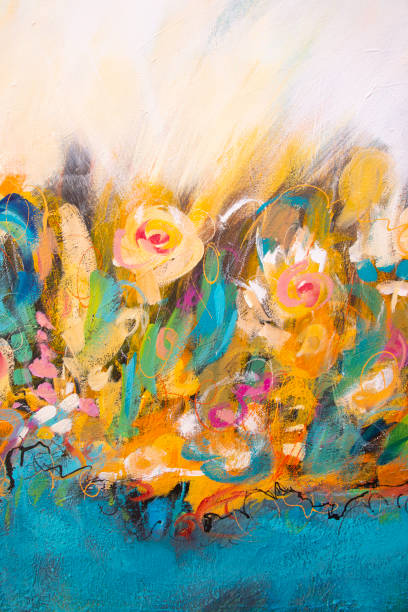 Fine Art Abstract Painting Background stock photo