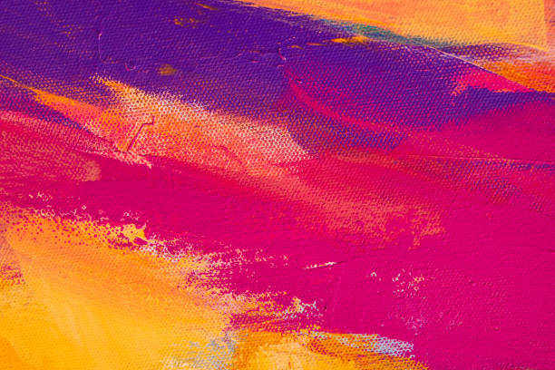Fine Art Abstract Painting Background with Brush Strokes stock photo