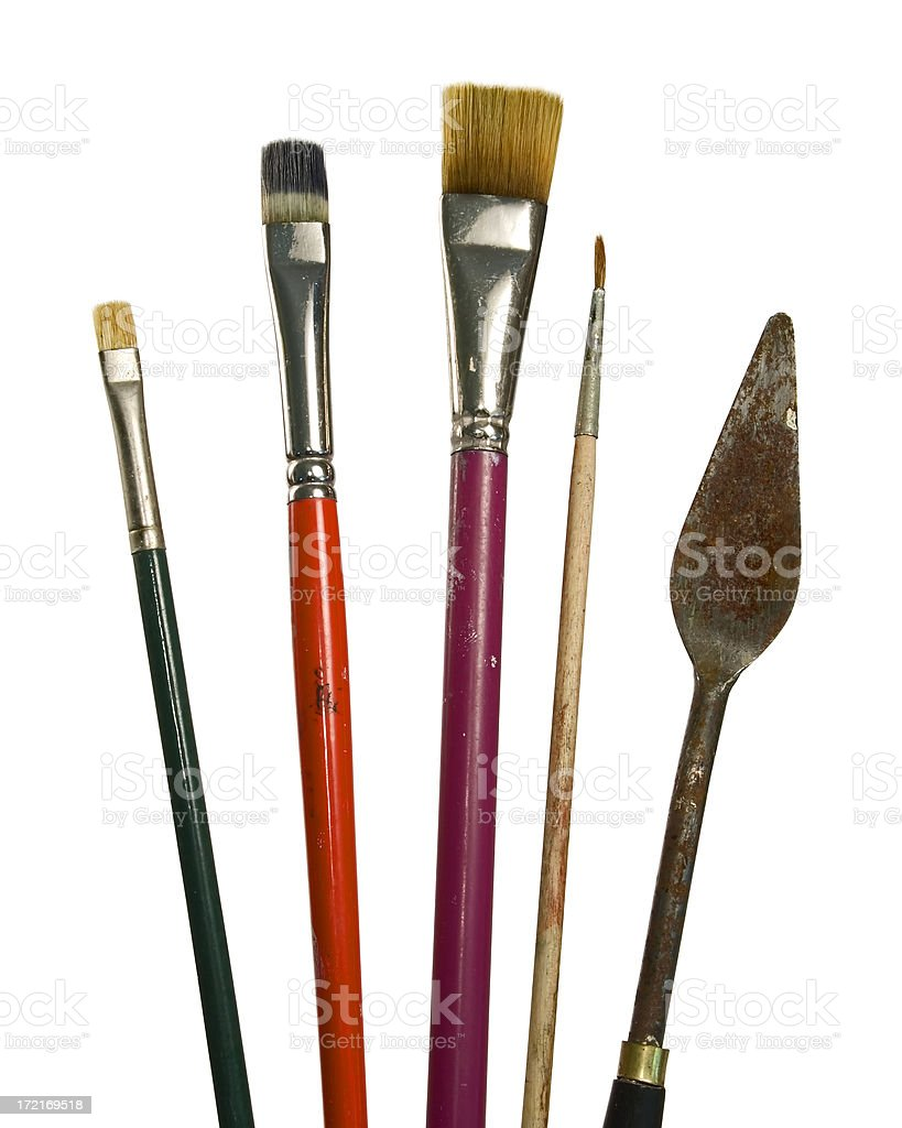 Fine Art Brushes royalty-free stock photo