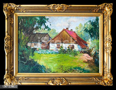 istock Fine art. Oil paintings rural landscape 1267328622