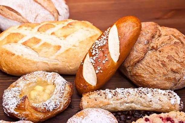 fine bakery products - laugenstangen stock-fotos und bilder