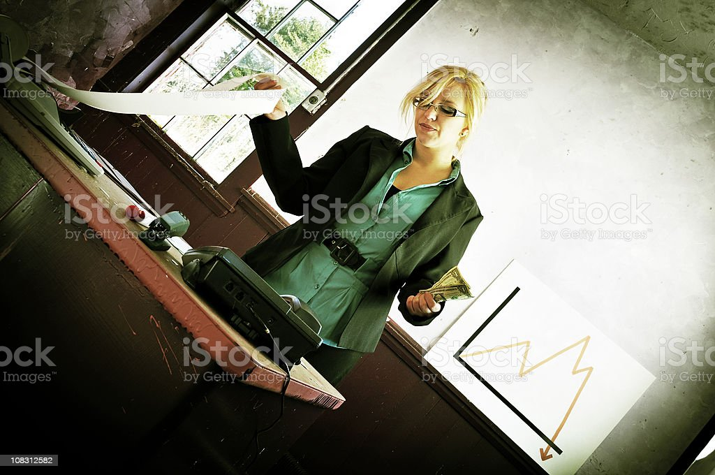 Fine Balance of Business, Skewed (Xpro) royalty-free stock photo