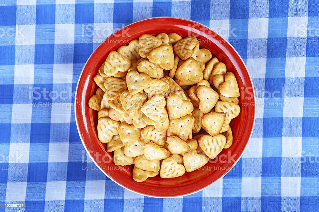 Fine biscuits in shape of heart royalty-free stock photo