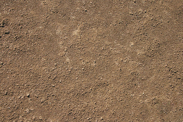 Fine brown sand dirt background stock photo