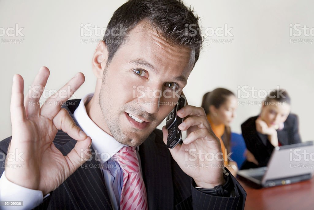 Fine business team royalty-free stock photo