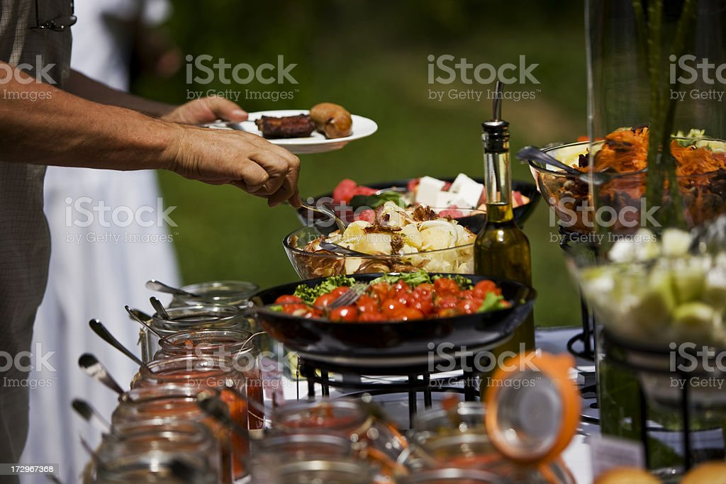 Fine catering royalty-free stock photo