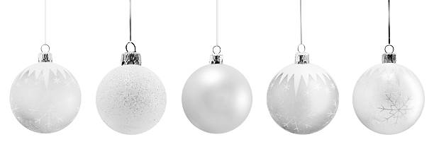 fine christmas ornaments - silver colored stock pictures, royalty-free photos & images