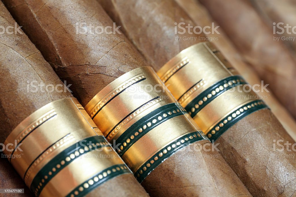 Fine Cuban cigars royalty-free stock photo