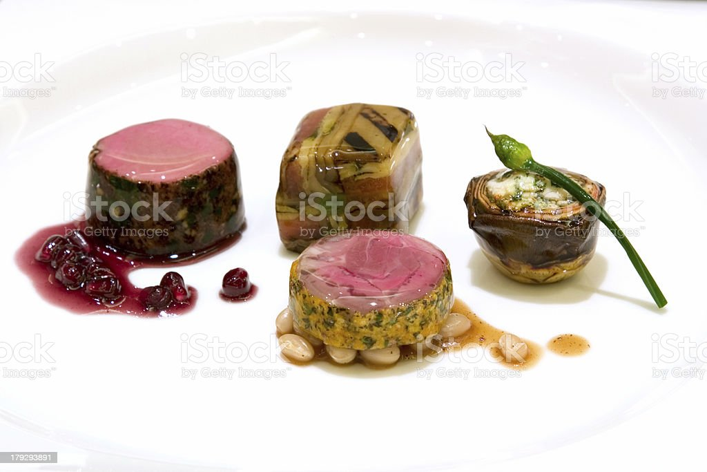 Fine dining - Entrees royalty-free stock photo