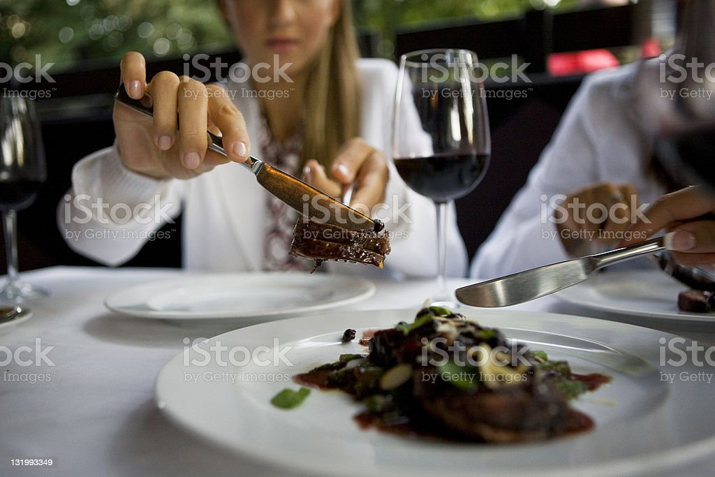 Fine dining royalty-free stock photo