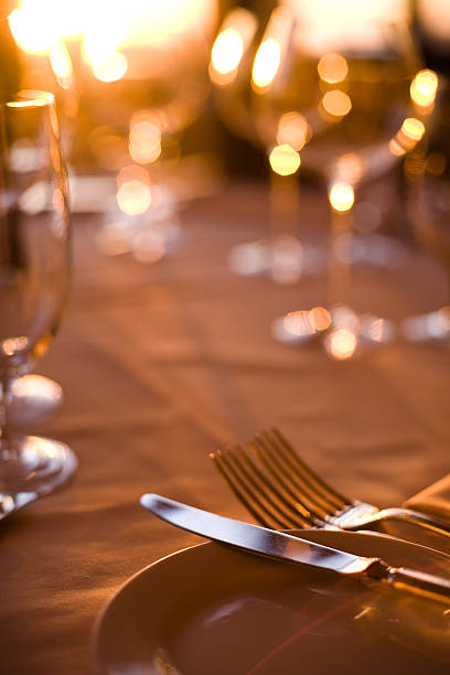 fine dining - halbergman stock pictures, royalty-free photos & images
