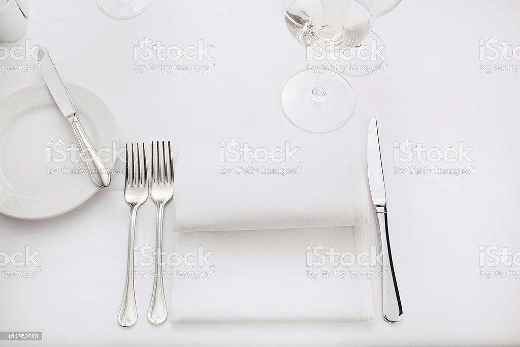 Fine dining restaurant stock photo