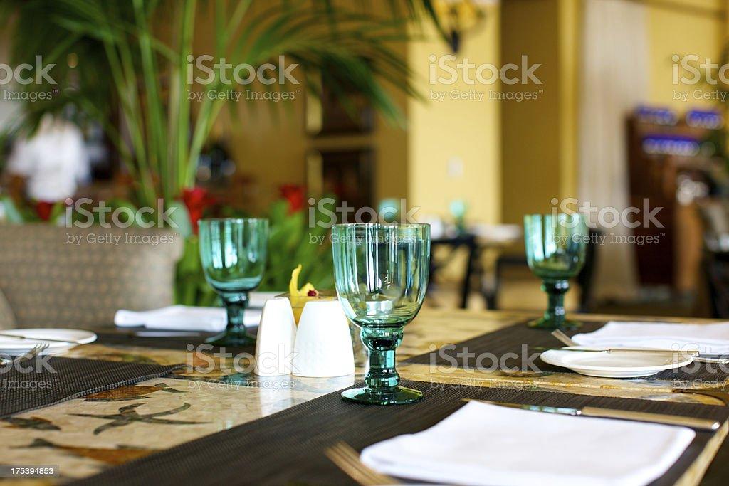Feine Restaurants Gedeckter Tisch – Foto