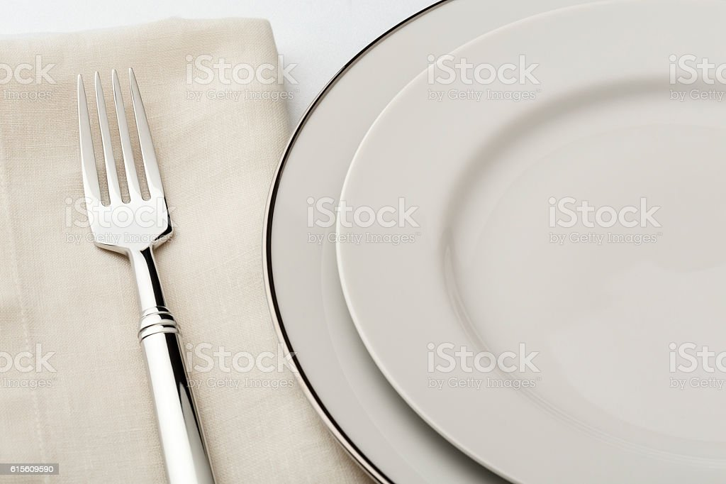 Fine Dining Table Setting Place Setting China Plate Silverware ...