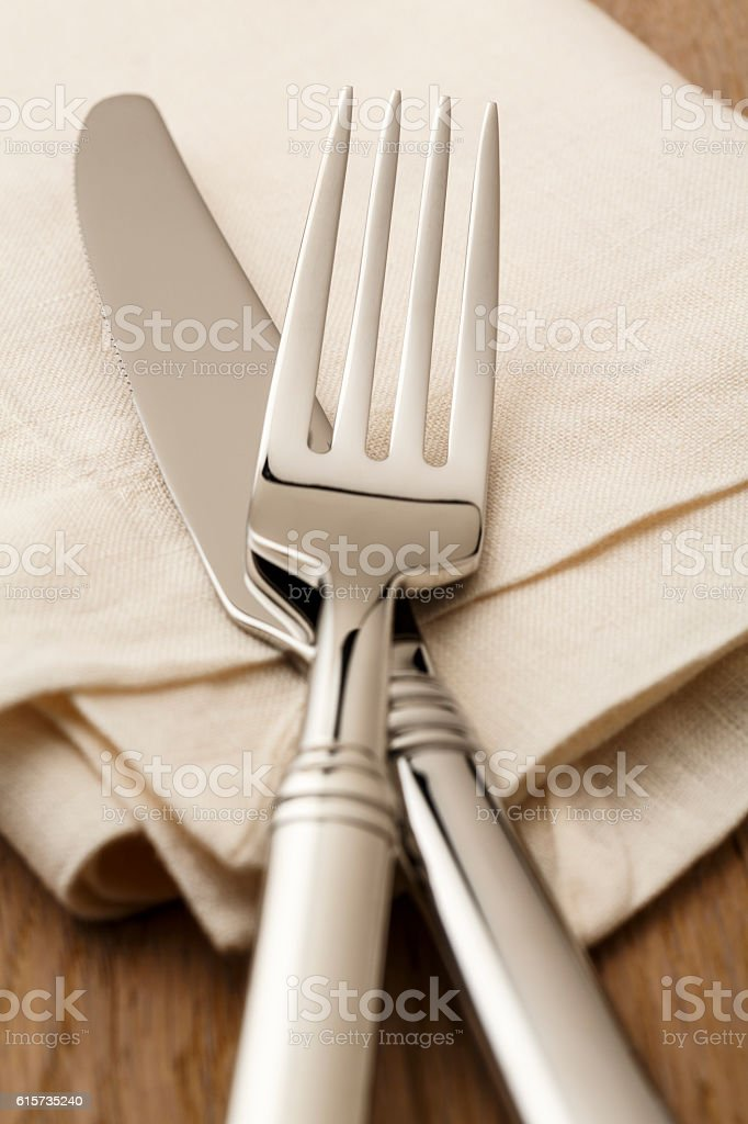 Fine dining table setting place setting silverware fork knife napkin royalty-free stock photo & Fine Dining Table Setting Place Setting Silverware Fork Knife Napkin ...