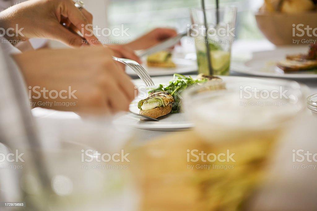 Fine eating XXL stock photo
