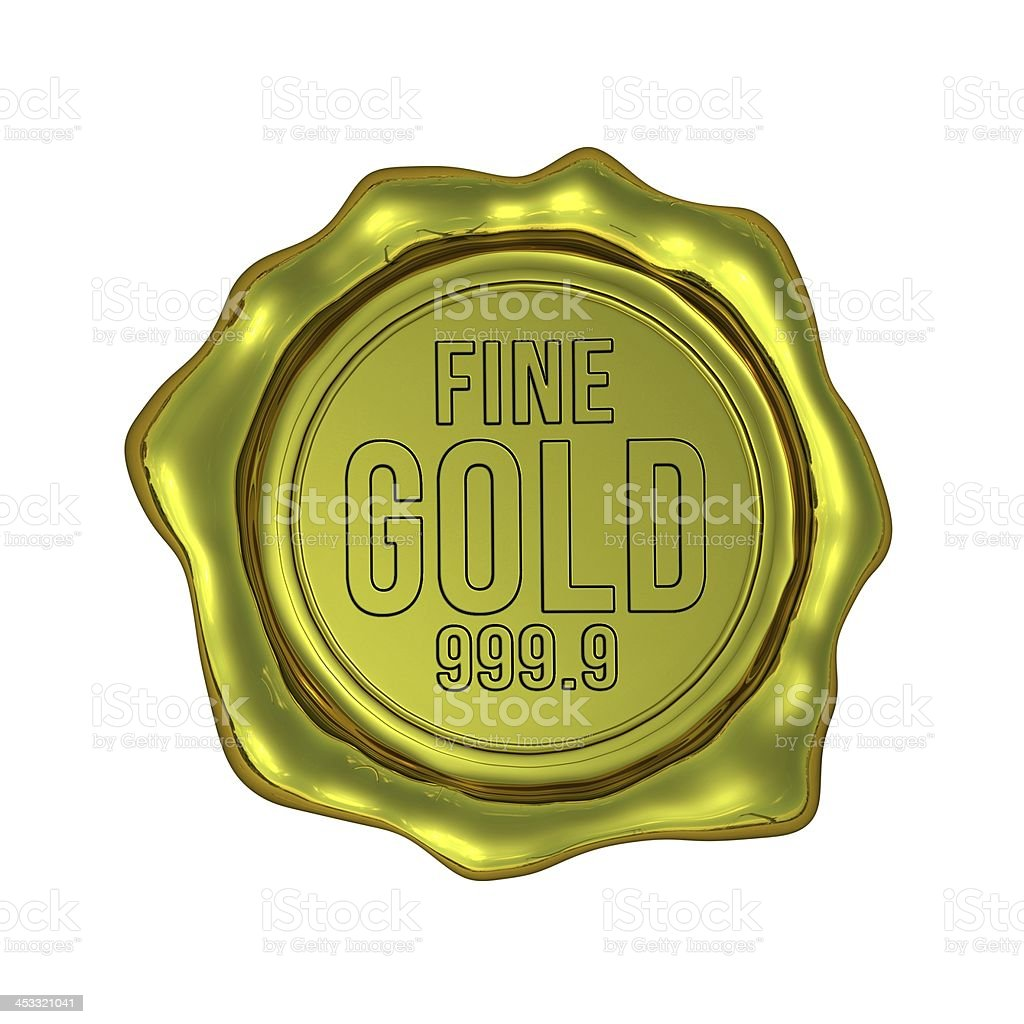 Fine Gold 999.9 - Isolated royalty-free stock photo