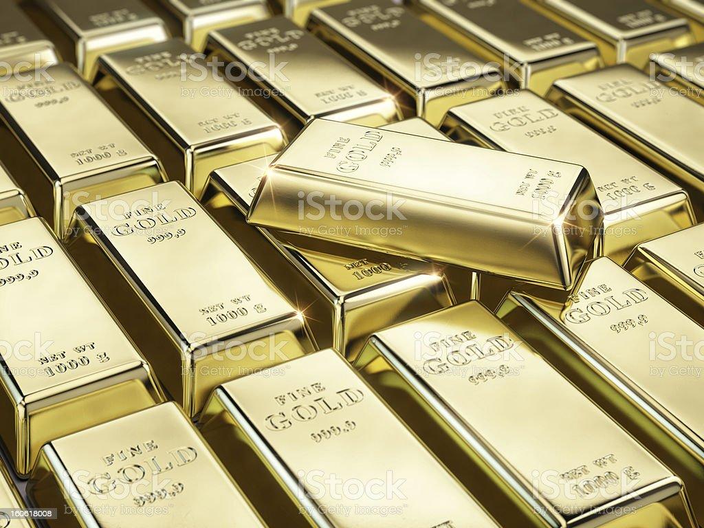 Fine gold bars royalty-free stock photo