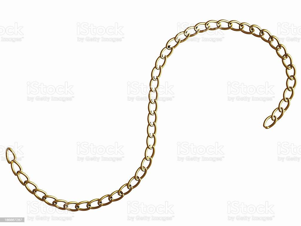 Fine Gold Chain stock photo