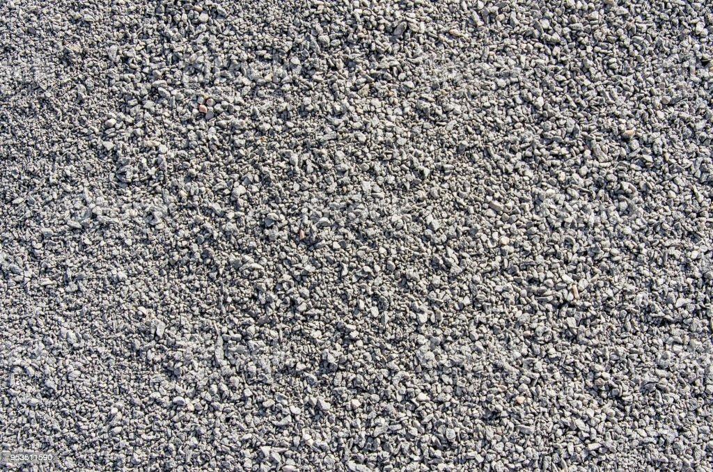 Fine grained gravel, gray stock photo