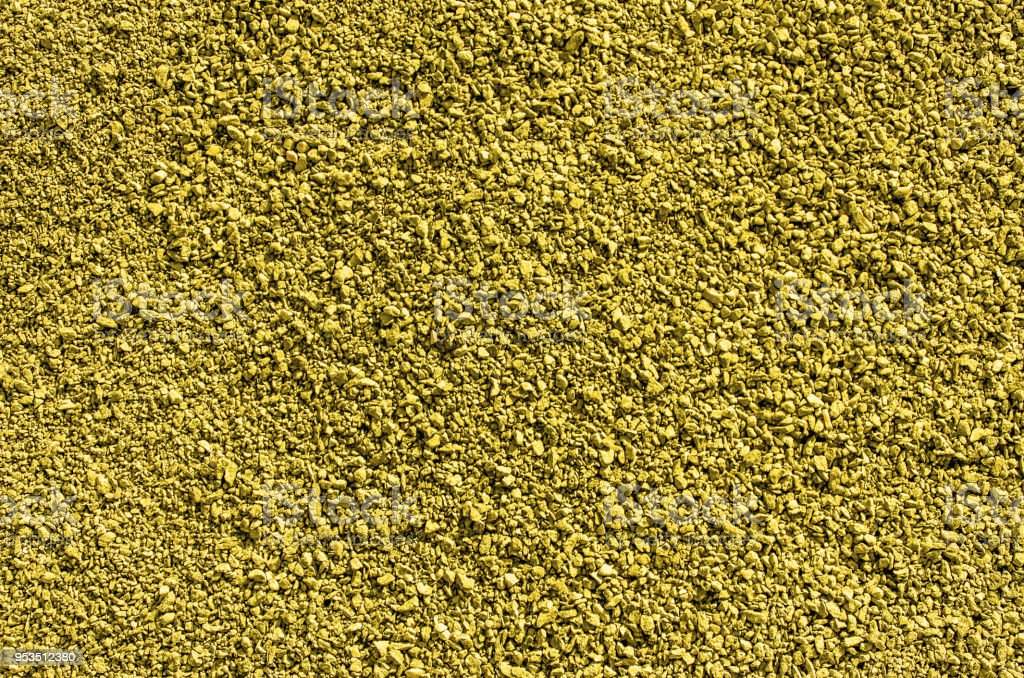 Fine grained gravel, yellow stock photo