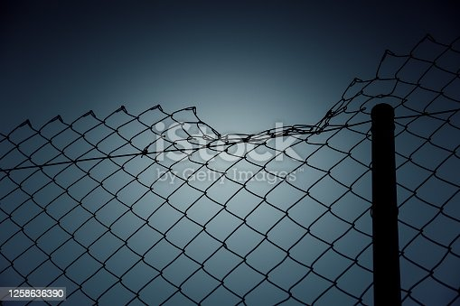 Fine metal fence, protection and security detail