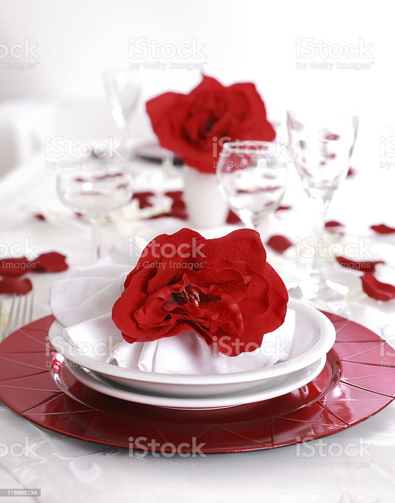 Fine place setting royalty-free stock photo