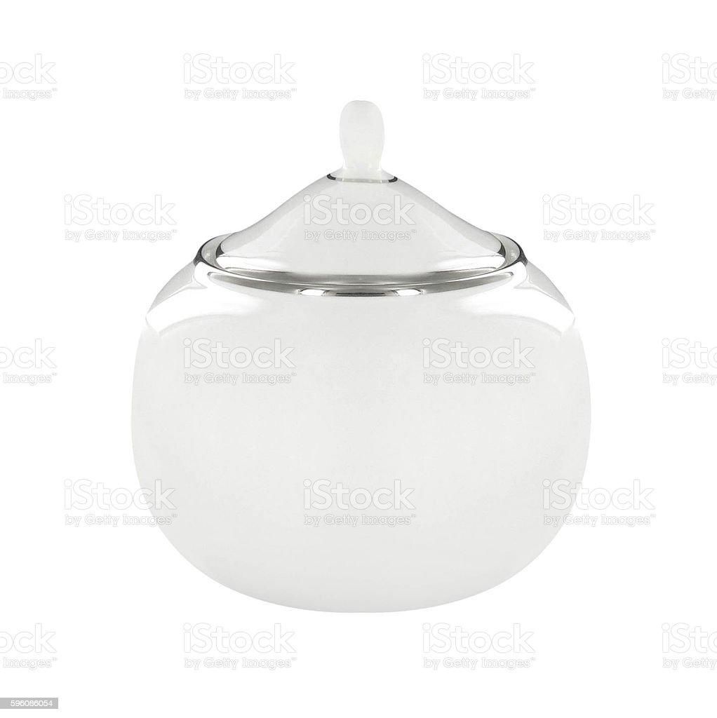 Fine porcelain sugar bowl royalty-free stock photo