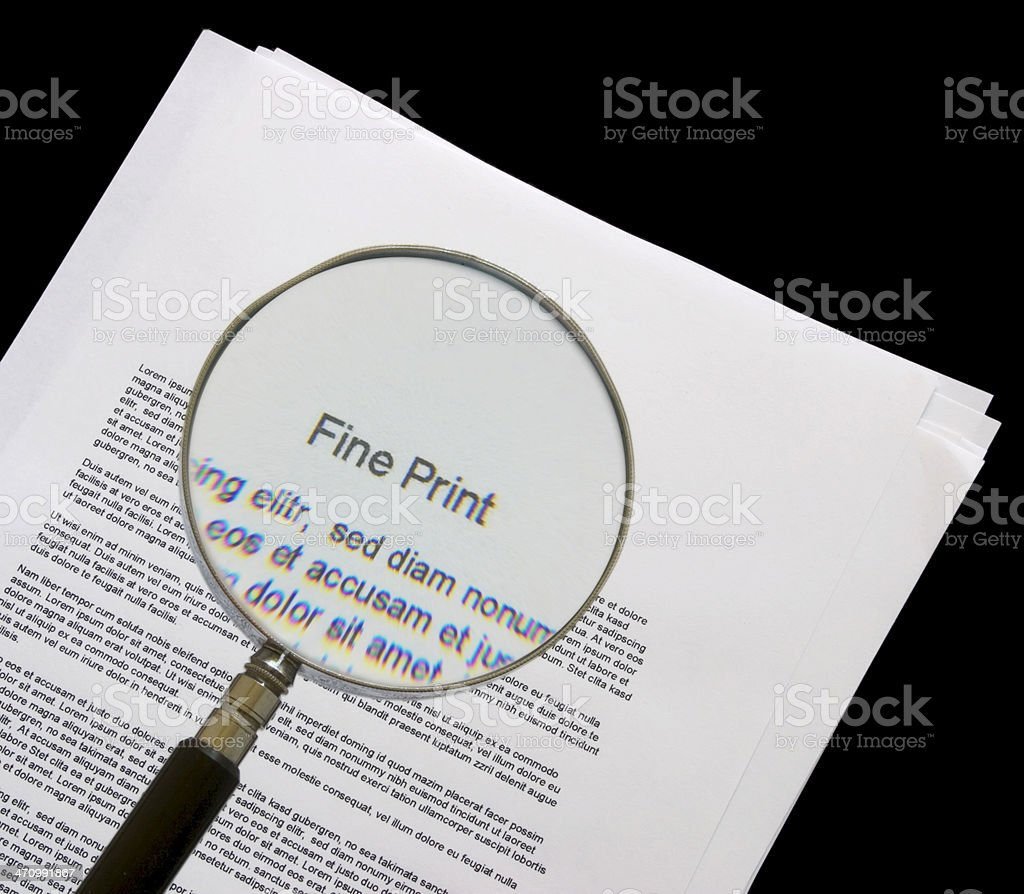 Fine Print royalty-free stock photo