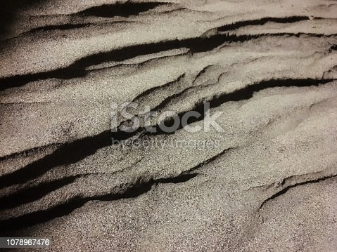 istock Fine sand formation like line and layer texture. Ripple pattern background 1078967476