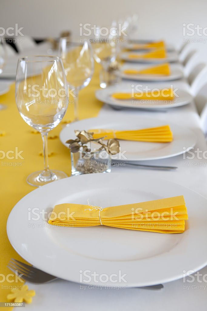 fine table setting stock photo