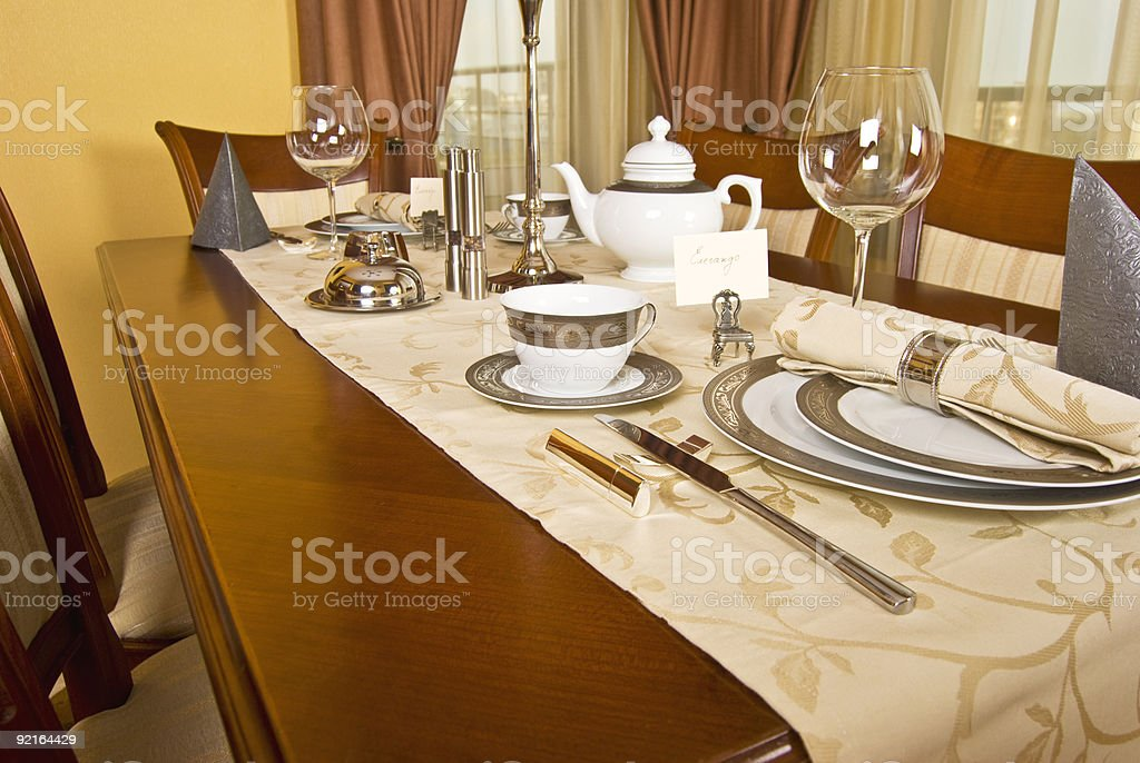 Fine table setting royalty-free stock photo