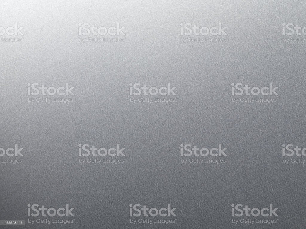 Fine Texture Brushed Metal Background with Light Gradation stock photo