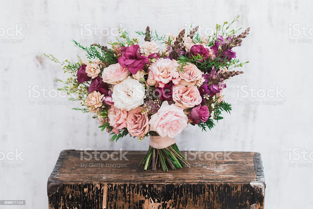 Fineart wedding bouquet stock photo