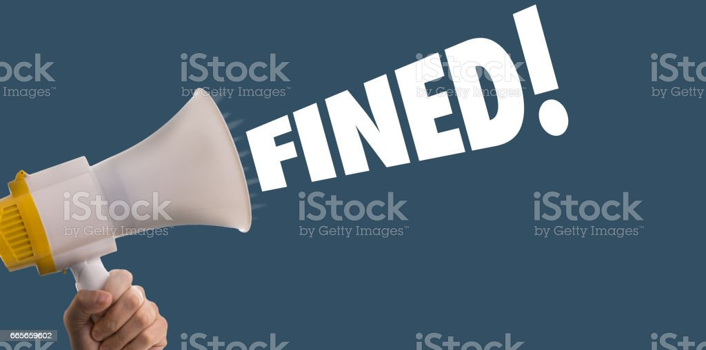Fined! stock photo