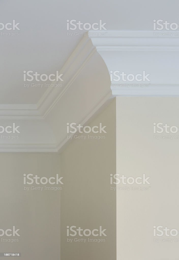 finely crafted cornice stock photo