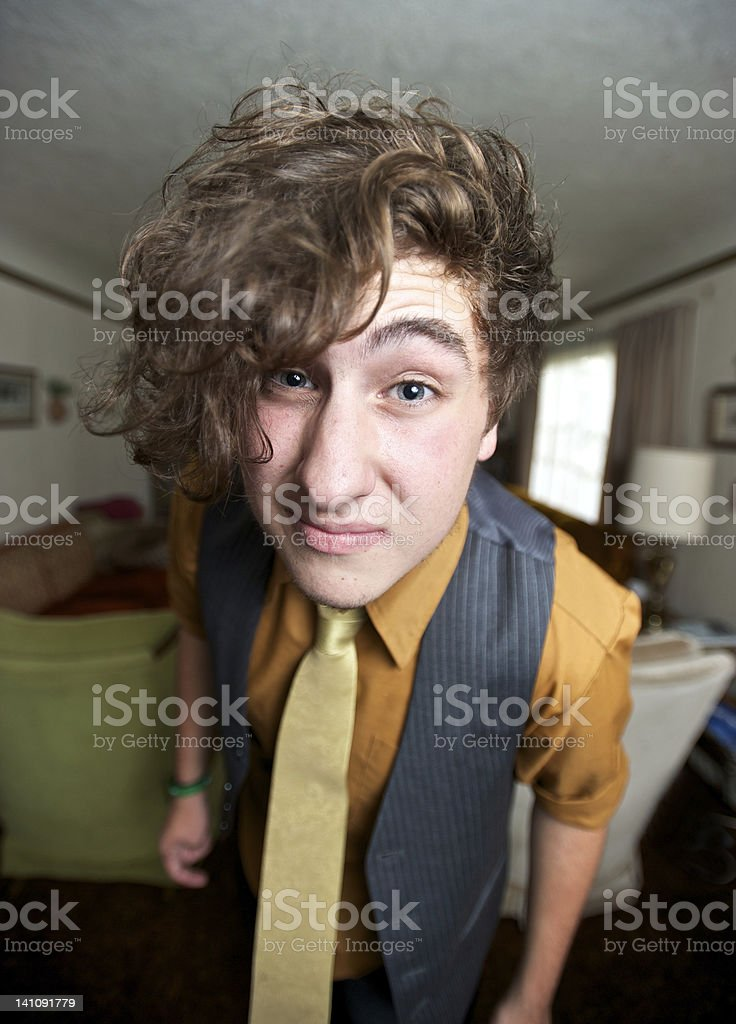 Finely Dressed Young Man stock photo