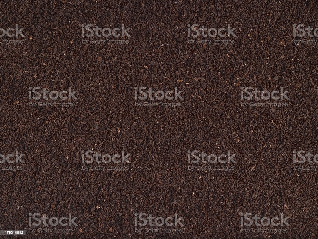 Finely Ground Coffee Texture stock photo