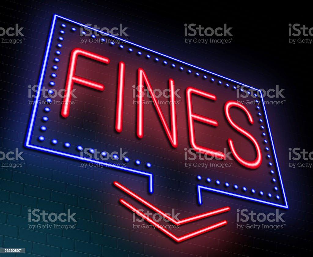 Fines concept. stock photo